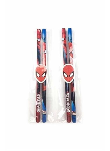 Spider-Man Spiderman Kurşun Kalem Seti 2 Kalem + Silgi Beyaz